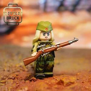 ⎡LEYILE BRICK⎦ Pre-order Custom Sniper Lyudmila Pavlichenko Lego Minifigure