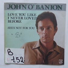 JOHN O ' BANION I love you like i never loved before 12528