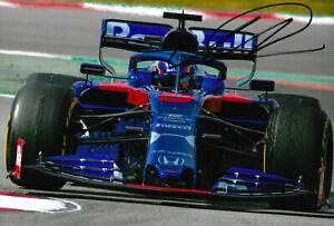 "Alexander Albon ""Toro Rosso Racing 2019"" signed 8x12 inch photo autograph"