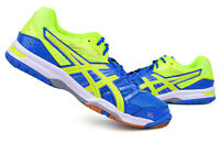 ASICS GEL-ROCKET 7 Men's Badminton Shoes Sports Indoor Yellow Blue B405N-4207