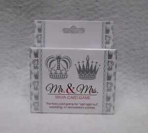 Mr & Mrs Trivia Card Game Couples Night Bachelorette Party Fun Anniversary Gift