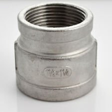 "Nipple 1-1/2"" x 1-1/4"" Female Stainless Steel 304 Threaded Reducer Pipe Fitting"