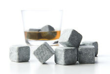 54x Whiskey Whisky Scotch Soapstone Cold Glacier Stone Ice Cubes Rocks w Bags