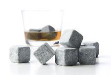 54x Whiskey Whisky Scotch Soapstone Cold Glacier Stone Ice Cubes Rocks w Bags