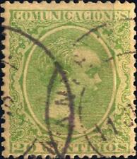 SPAGNA - 1889 - Effigie del Re Alfonso XII - 20 cent. verde giallo