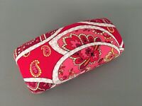 VERA BRADLEY Eyeglass Case Red Pink Piccadilly Clamshell Sunglasses Case - Mint!
