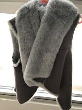 Decjuba Grey Faux Fur Vest (reversible) Size S/M