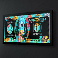 Home Wall Art Print Decor Money Painting Almighty Dollar on The Canvas 24x48