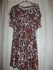 Animal Print Dress Size 10 Peacocks BNWT
