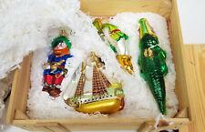 Polonaise Komozja Poland Hand Blown Glass Peter Pan Christmas Ornament