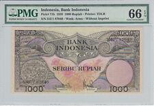 INDONESIA P.71b - 1000 Rupiah 1959 PMG 66 EPQ