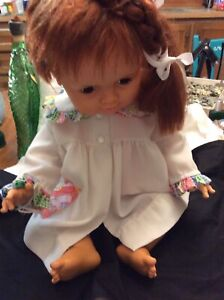Vintage Large Baby Crissy Doll Ideal Growing red Hair 1972-73 White Dress