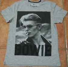 Amplified Mens David Bowie Smoker Gray T shirt M, L, XL Vintage Washed