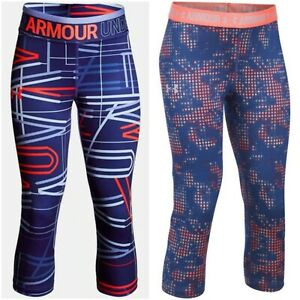 NWT UNDER ARMOUR HeatGear Girls Printed Leggings Multi-color SELECT SIZE & MODEL