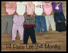 Girls Clothing Lot, 24 Months, 14 Items, Little Lass, Absorbs, First Impressions