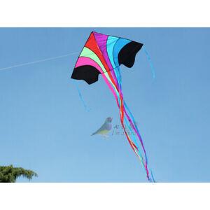 NEW 63-In Rainbow Triangle kite Children's toys outdoor fun sports Delta kites