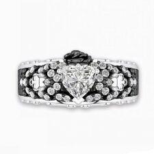 Rings Women White Sapphire Size 10 Fashion Heart Jewelry 925 Silver Wedding