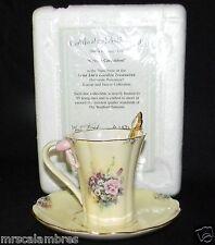 3rd Cream Carnation by Lena Liu Garden Treasures Teacup, Saucer & Spoon Set Coa