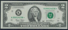 $2 2003 GEM CU STAR NOTE ~LOW 5-DIGIT SERIAL NUMBER SUPER SHORT RUN ~ K* BLOCK