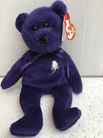 1st Edition TY Princess Diana purple bear Immaculate condition(Rare)