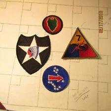 WW2 and Korean War era military patches.