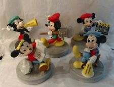 5 Vintage Disney MGM Studios Director Mickey Mouse Figurines - Complete Set
