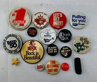 Vintage Lapel Pin Button Hippie,Peace,Beer,Smokey Bear,Rodeo,Political Bulk Lot