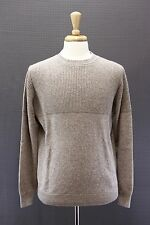 NWT$2325 Brunello Cucinelli Men Chunky 100% Cashmere Cable-Knit Crewneck 50/40US