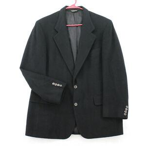 Vtg AO WHITE Black Camelhair Heavy Blazer Sport Coat Suit Jacket Men's 42R