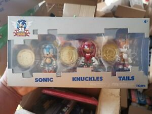 Sonic The Hedgehog 25th Anniversary 3 Figures Coin Medal Set NEW rare
