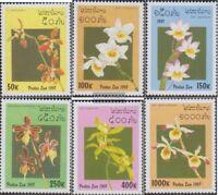 Laos 1577-1582 (kompl.Ausg.) postfrisch 1997 Orchideen