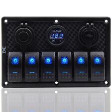 6 Gang LED Schalttafel Schaltpanel Schalter Schalttaf Voltmeter Für Boot RV Auto