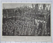 City Of London Imperial Volunteers On The SS Garth Castle 1900 News Clipping