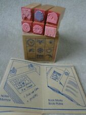 Vintage 1979 Graphistamp Miniature Rubber Stamps Susan Manchester ~FREE SHIPPING