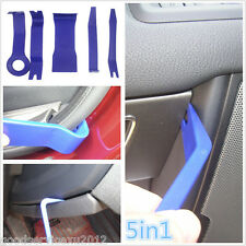 5in1 Blue Good Plastic Car Door Panel Pry Open Tool Moulding Lights Removal Kit
