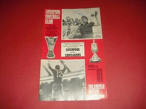 1976/77 EUROPEAN CUP LIVERPOOL V CRUSADERS SIGNED BOB PAISLEY & RAY KENNEDY