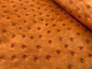 Ostrich Leather Hide,Chestnut (Maddog) Color (%100 Genuine Natural skin)