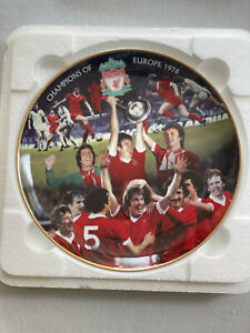 CHAMPIONS OF EUROPE 1978 - DANBURY MINT LIVERPOOL FC COLLECTOR PLATE