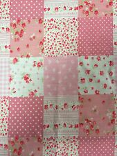 FQ Patchwork Pinks Vintage Tilda  100% Cotton Patchwork Quilting 50x50cms
