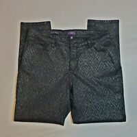 Not Your Daughters Jeans NYDJ Alina Print Pants High Rise Legging Diamond Sz 16