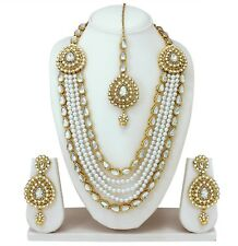 Indian Bollywood style Fashion Gold Plated Necklace Earrings Wedding Jewelry Set