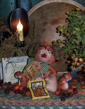 Patti's Ratties Primitive Dog Annie Halloween Ornie Doll Paper Pattern #176