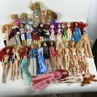 Huge Lot Barbie Monster High Descendants Disney dolls (AS IS for restoration)