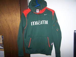 Nike Boy's University of Miami NIKE Fit Hoodie Jacket Size M 8 -10  Green YOUTH