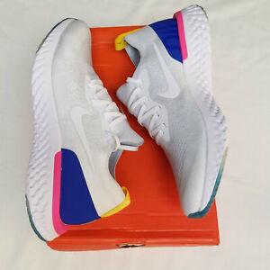 Epic React Flyknit White Men's Size 11 10.5 Running Sneakers Original white