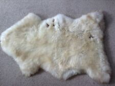 GENUINE SHEEPSKIN RUG (CREAM WITH BROWN AND CARAMEL MARKINGS) - EXTRA LARGE
