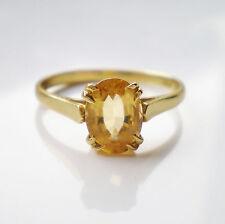 Stunning Vintage 18ct Gold Citrine set Ring c1988; UK Ring Size 'N 1/2'