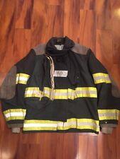 Firefighter Globe Turnout Bunker Coat 44x29  BLACK Halloween Costume