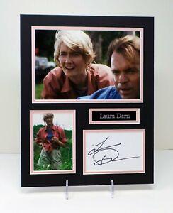 Laura DERN RARE Signed Mounted Photo Display AFTAL RD COA Jurassic Park Actress