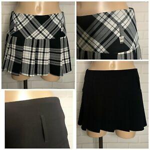 Women Ladies Cute Pleat Mini Skirt Size 6 - 14
